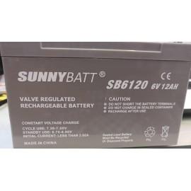 باتری یو پی اس 6 ولت 12 آمپر ساعت مارک SUNNY BATT باطری یو پی اس