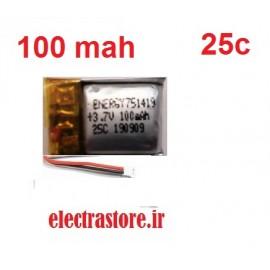 3.7 100mAh مرغوب مارک انرژی باتری کوادکوپتر لیتیوم پلیمر