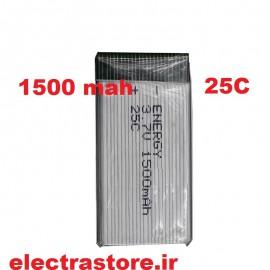 3.7 1500mAh مرغوب مارک انرژی باتری کوادکوپتر لیتیوم پلیمر