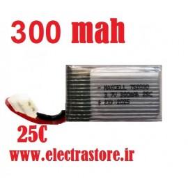 3.7 300mAh مرغوب مارک مکسل  25C باتری کوادکوپتر لیتیوم پلیمر