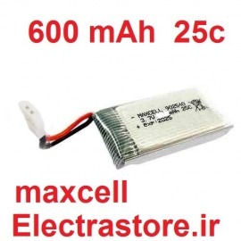 3.7 600mAh مرغوب مارک مکسل باتری کوادکوپتر لیتیوم پلیمر