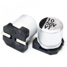 خازن SMD الکترولیت ES 10uf/50V smd سایز  5x5.4mm