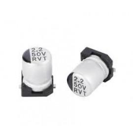 خازن SMD الکترولیت ES 2.2uf/50V smd سایز  5x5.3mm