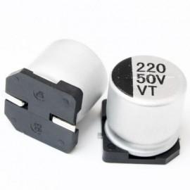 خازن SMD الکترولیت ES 220uf/50V smd سایز   10x10.5mm