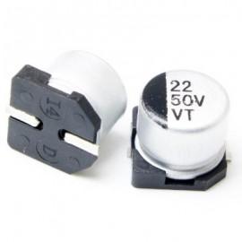 خازن SMD الکترولیت ES 22uf/50V smd سایز  6.3x5.4mm