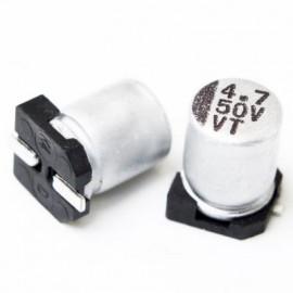خازن SMD الکترولیت ES 4.7uf/50V smd سایز  4x5.3mm