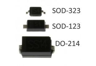SMD Diode Packaging انواع پکیج های دیود های SMD