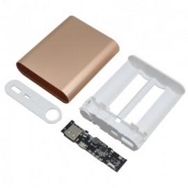 کیت یا کیس پاور بانک 4 باتری دارای خروجی 5V 2A USB کیس همراه ماژول جعبه پاوربانک