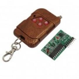کیت ریموت و گیرنده 4 کاناله PT2272 دارای فرکانس 315MHZ رادیو رباتیک