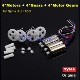 ست کامل چرخدندها و موتور های کوادکوپتر  سایما X5 , X5SW, X5hw, X5hc, X5C چرخ دنده